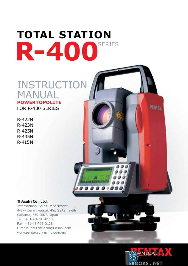 كتاب Total Station Instruction manual