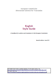 كتاب English Style Guide  A handbook for authors and translators in the European Commission