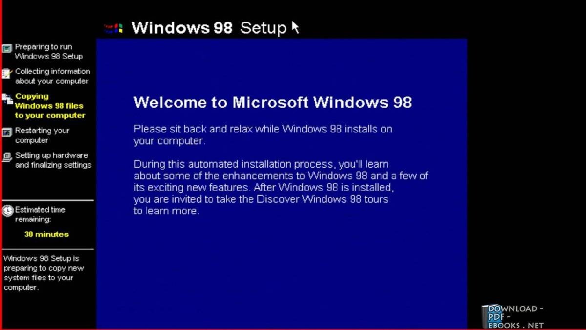 ❞ كتاب Learn to install and install Windows 98 ❝