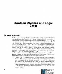 قراءة و تحميل كتاب 02 – Boolean Algebra and Logic Gates PDF