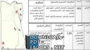 قراءة و تحميل كتاب التكوينات الجيولوجية و عوامل تشكيل سطح مصر PDF